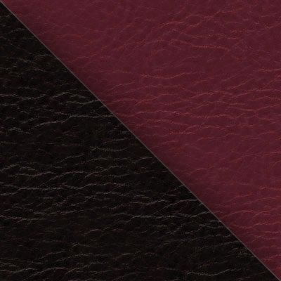 Иск. кожа черная / бордо