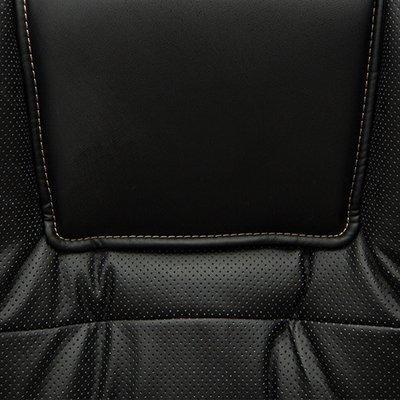 Кожзам, черный-черный перфорированный 36-6х36-6х06